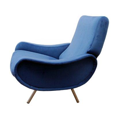 Poltrona Lady Zanuso.Mid Century Royal Blue Lady Easy Chairs By Marco Zanuso For Arflex Set Of 2