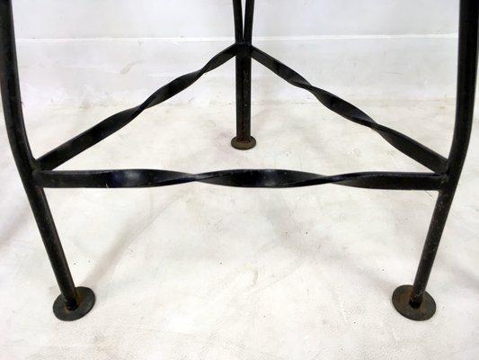 Doppio sgabello industriale legno e metallo sgabelli da bar