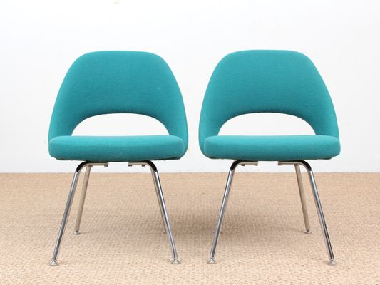 Beau Scandinavian Executive Chairs By Eero Saarinen For Knoll, 1950s, Set Of 2 1