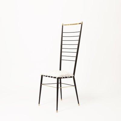 Sedia con schienale alto di Gastone Rinaldi, anni \'50 in vendita su ...