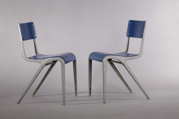 Sedie industriali vintage in alluminio di James Lonard in vendita su ...