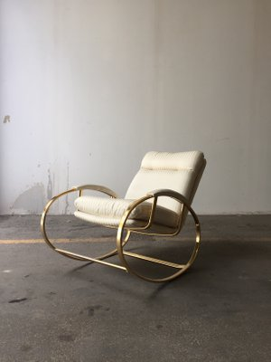 Outstanding Vintage Italian Rocking Chair 1960S Gmtry Best Dining Table And Chair Ideas Images Gmtryco