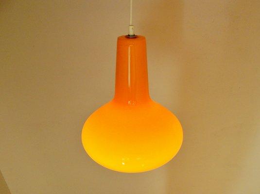 Orange italian glass pendant light by massimo vignelli for venini orange italian glass pendant light by massimo vignelli for venini 1960s 1 aloadofball Image collections