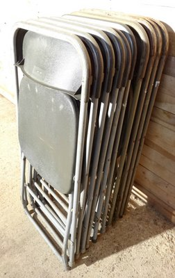 Pleasant Vintage Industrial Folding Chairs From Samsonite Set Of 10 Cjindustries Chair Design For Home Cjindustriesco