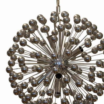 new arrival 7a1fd 8b38f Italian Space Age Chrome Plated & Plastic Sputnik Chandelier, 1970s