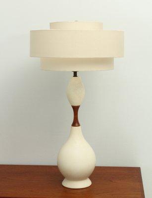 Large American Ceramic Table Lamp, 1950s 1