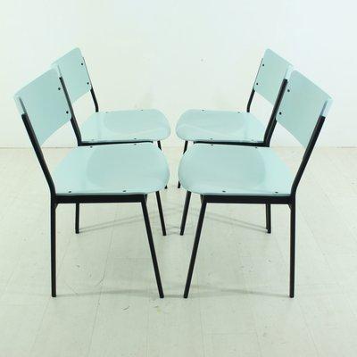 Vintage Stühle In Minze Pastellton 4er Set Bei Pamono Kaufen