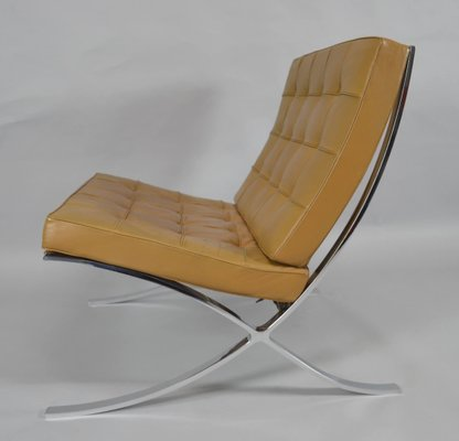 Vintage Barcelona Chair With Ottoman By Ludwig Mies Van Der Rohe For Knoll  International 10