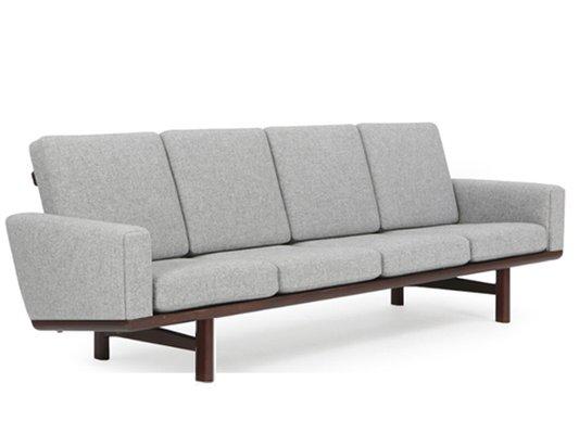 Ge 236 Large Wooden Sofa By Hans J Wegner For Getama 1958