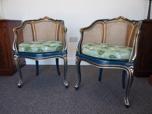 Poltrone Bergère antiche in stile Luigi XV, set di 2 in vendita su ...