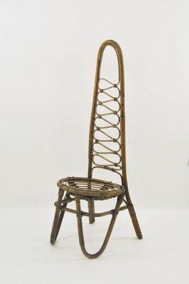 Französische Rattan Stühle 1950 2er Set Bei Pamono Kaufen