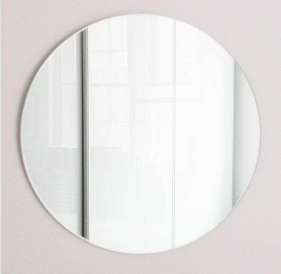 Extra Large Silver Orbis Round Frameless Mirror By Alguacil Perkoff For Sale At Pamono