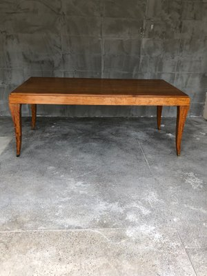 Vintage French Dining Table In Eucalyptus 1