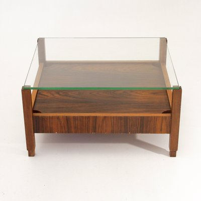 Italian Coffee Table With Gl Top 1960s 1