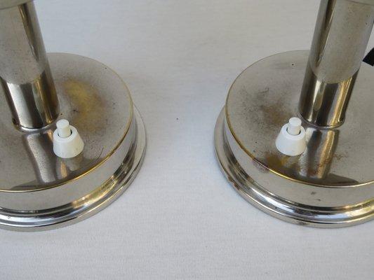 Kleine Vintage Art Deco Tischlampen Von Fm 2er Set