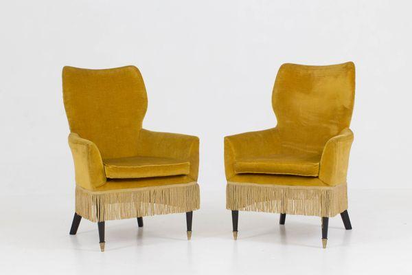 Italian Ladiesu0027 Chairs by Paolo Buffa 1960s ... & Italian Ladiesu0027 Chairs by Paolo Buffa 1960s Set of 2 for sale at ...