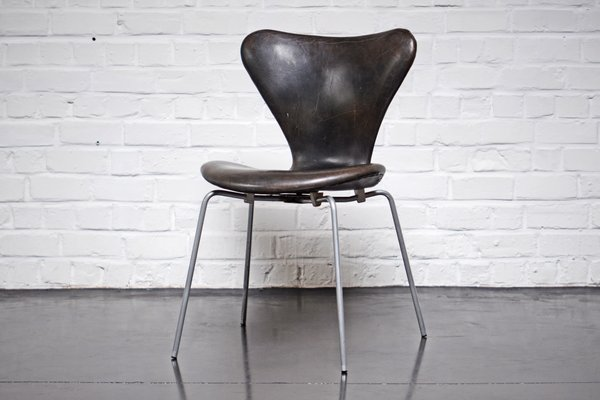 Surprising Danish 3107 Leather Chair By Arne Jacobsen For Fritz Hansen 1962 Pabps2019 Chair Design Images Pabps2019Com