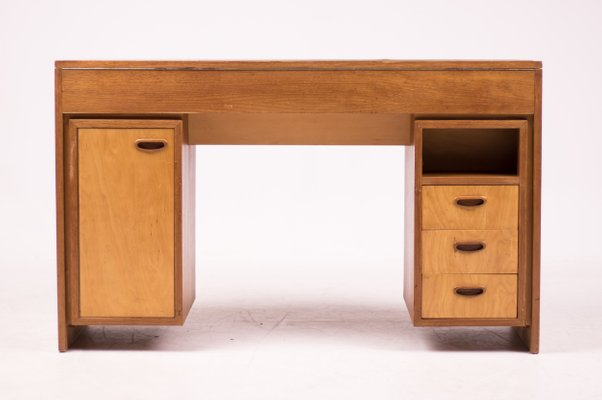 Mid Century Modern Dutch Desk In Teak 1952 For Sale At Pamono