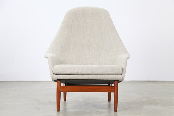 High Back Lounge Chairs By Ib Kofod Larsen, 1957, Set Of 2 1