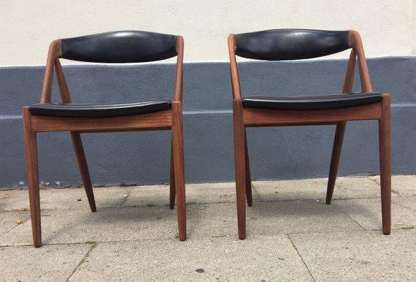 Mid Century Danish Teak Chairs By Kai Kristiansen For Schou Andersen,  1960s, Set