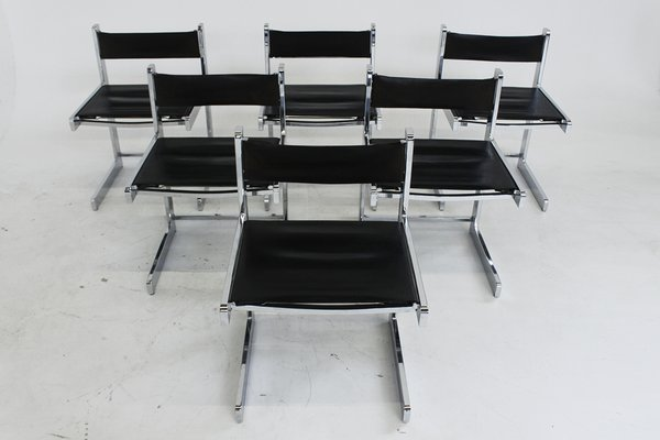 Superb Mid Century Modern Chrome Dining Chairs Set Of 6 Bralicious Painted Fabric Chair Ideas Braliciousco
