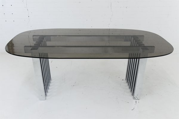 1900-1950 Mid-century Modern Chrome And Glass Table Furniture