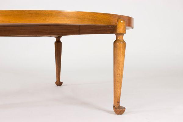 Bon Mid Century Swedish Round Walnut Coffee Table By Josef Frank For Svenskt  Tenn 5