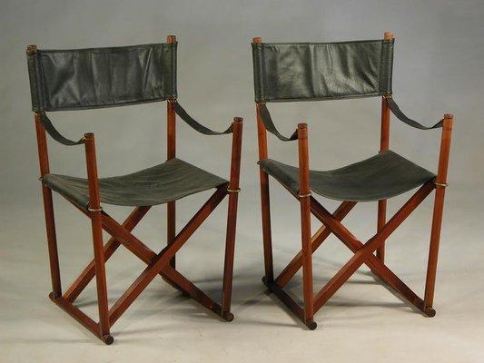 Wondrous Teak Brass Black Leather Safari Folding Chair By Mogens Koch For Rud Rasmussen 1960S Pabps2019 Chair Design Images Pabps2019Com