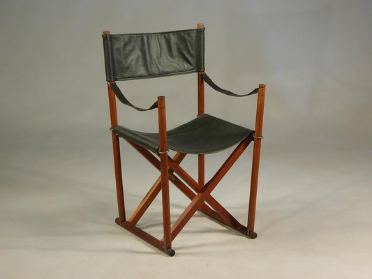 Admirable Teak Brass Black Leather Safari Folding Chair By Mogens Koch For Rud Rasmussen 1960S Pabps2019 Chair Design Images Pabps2019Com