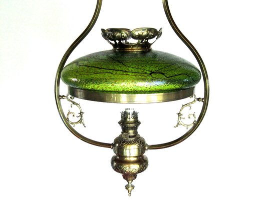 Antique Austrian Art Nouveau Lamp With