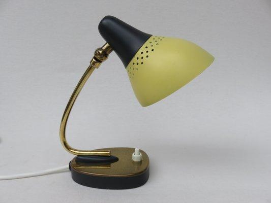 Lampes de bureau en laiton laqué jaune et noir italie set de