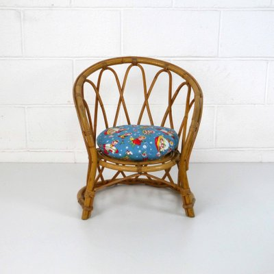 Vintage Children's Rattan Chair, ... - Vintage Children's Rattan Chair, 1960s For Sale At Pamono