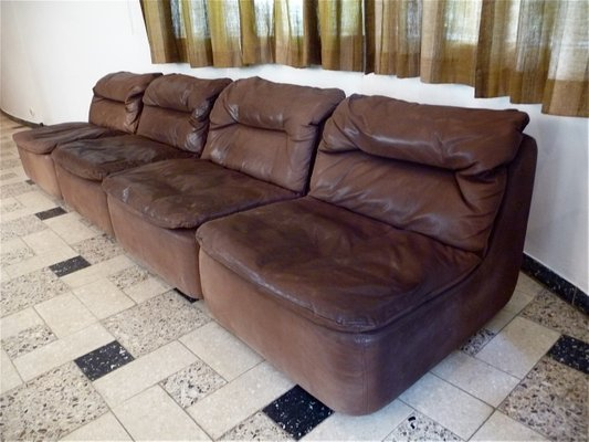 Curved Sectional Corner Leather Sofa by Friedrich Hill for Walter ...