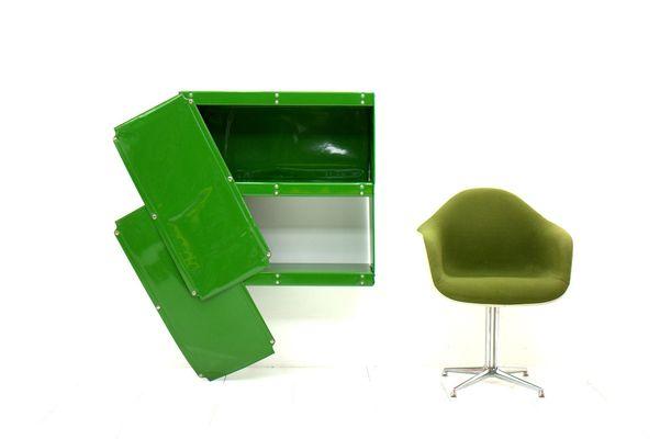 Mini Kühlschrank Otto : Vintage softline serie regalsystem in grün von otto zapf für