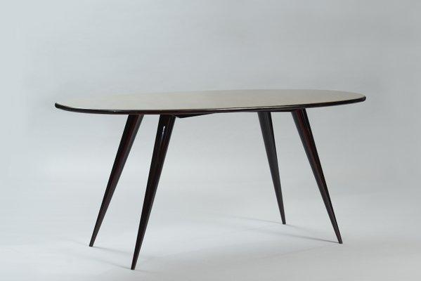 Mid Century Oval Italian Dining Table 1