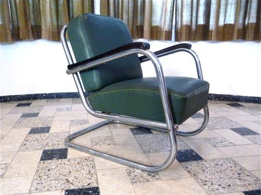 German Tubular Steel Bauhaus Cantilever Chairs From Mauser Werke