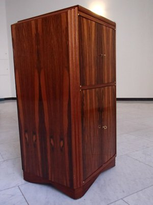 Art Deco Bar Mahogany Cabinet With Mirrored Top 2