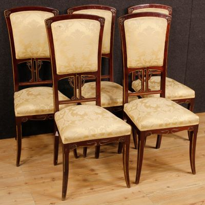 Etonnant Spanish Chairs, 1920s, Set Of 5 2