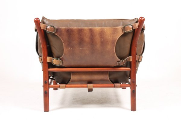 Ilona Leather Lounge Chair By Arne, Arne Norell Ilona Chair