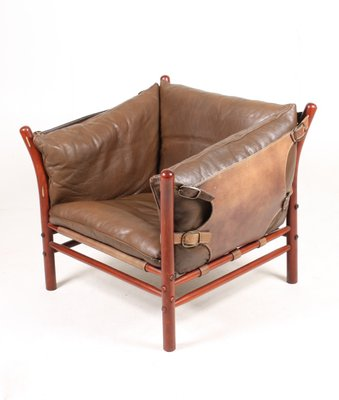 Surprising Ilona Leather Lounge Chair By Arne Norell 1960S Ibusinesslaw Wood Chair Design Ideas Ibusinesslaworg