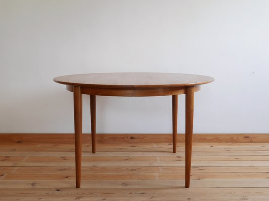 Danish Extending Teak Round Table From Skovmand U0026 Andersen, ...