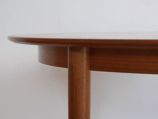 Tavolo rotondo allungabile in teak di Skovmand & Andersen, Danimarca ...