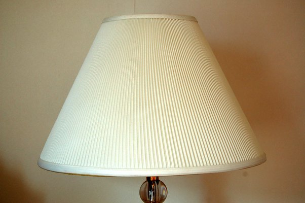 Large Art Deco Table Lamp By Jacques Adnet 1930s
