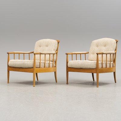 Scandinavian Vintage Skrindan Easy Chairs By Kerstin Hörlin