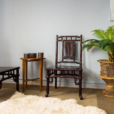 vintage chinese hardwood chairs set of 4 for sale at pamono