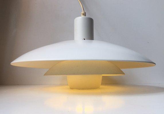 de Lámpara blanca escalonada 70 colgante vintage danesa Jekaaños lc3TFK1J