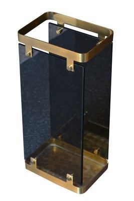 Umbrella Stand Designs : Glass brass umbrella stand by max ingrand for fontana arte