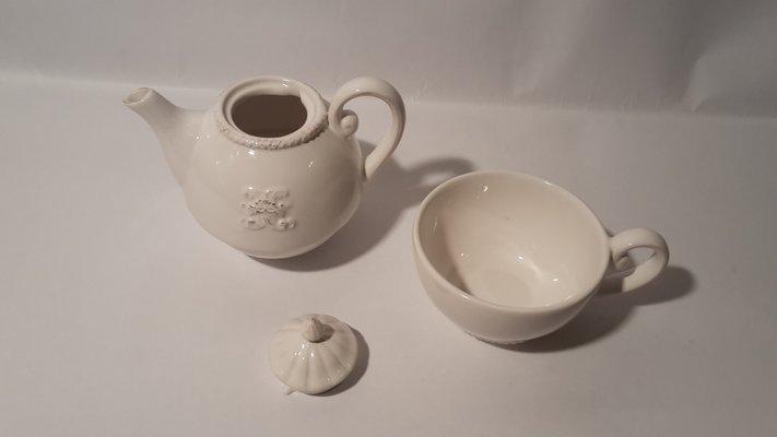 Credenza Con Tazze : Teiera vintage con tazza in ceramica francia vendita su pamono
