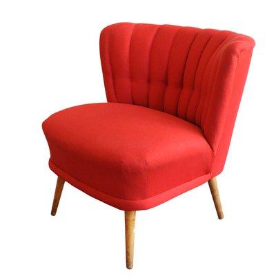 fauteuil cocktail vintage rouge 1 - Fauteuil Cocktail Vintage