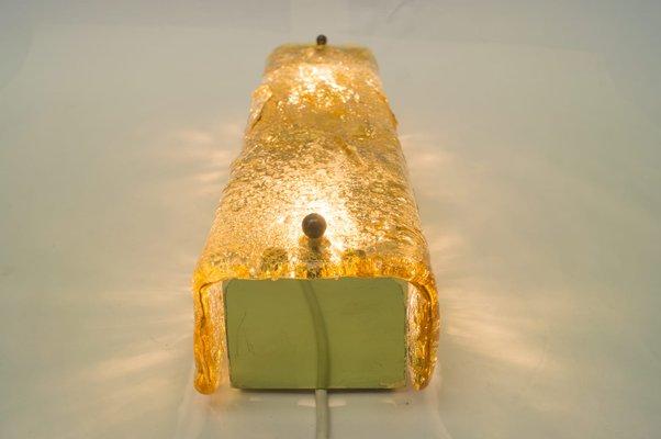 Applique in vetro di murano color ambra di limburg anni